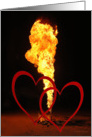 Fire/Hearts card