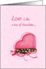 Love is ... - Valentine card