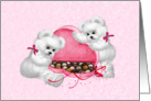 Teddy Bears Chocolate Box Valentine card
