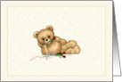 Romantic Teddy Bear Valentine card