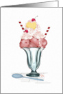 Ice Cream Sundae Valentine card