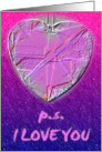 P.S. I Love You card