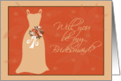 Will you be my Bridesmaid? Autumn Bridesmaid card