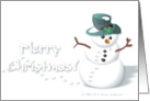 Merry Christmas - Snowman card
