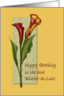 Mother-in-Law Birthday Calla card