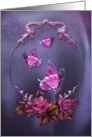 Pink Butterflies card