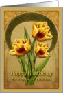 Tulips Birthday card