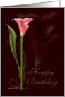 Pink Calla Birthday card