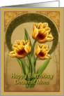 Art Deco Tulips card