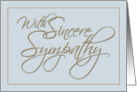 Calligraphy, Sympathy Greeting Card, Formal card