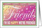 Friend's Birthday Greeting Card/'Happy Card' Collection card