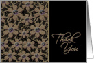 Thank You Greeting Card-Beaded Spanish Lace card