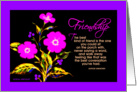 Birthday, Friendship, A Floral Bright' Card