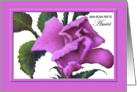 Italian,Female Friend, Birthday Pink Rose Greeting Card, Amici Compleanno, Rosa Dentellare card