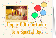 Happy 80th Birthday To A Special Dad card