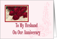 To My Husband Anniversary Card