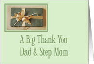 Christmas gift thank you,Dad And Step Mom card