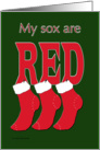 Red Sox Christmas card