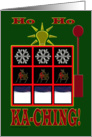 Christmas Slot Machine card