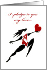 Dancer Heart valentine Marriage Proposal card