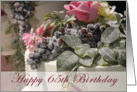 65th Birthday Cake card