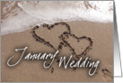 January Wedding card