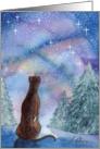 Greyhound whippet dog enjoying a quiet evening Card