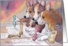 Welsh Corgi dogs playing bingo Card