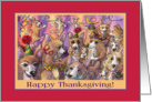 Happy Thanksgiving, Corgi celebration. card