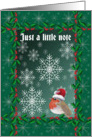 Just a little note blank Robin card