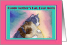 Happy Mother's Day Mum, tabby cat british blue cats hugging card
