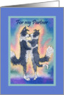 Valentine's Day card Partner, Border Collie dogs, couple in love card