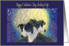 Happy Valentine's Day Wife, dog card, card