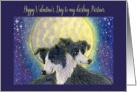 Happy Valentine's Day to my Partner, dog valentine card, card