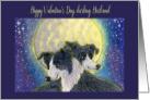 Happy Valentine's Day Husband, dog valentine card, card