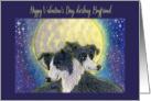 Happy Valentine's Day Boyfriend, dog valentine card, card