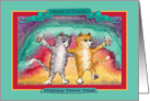 Happy New Year Aunt & Uncle cat card