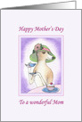 Happy Mother's Day to a wonderful Mom, dog mothers day card
