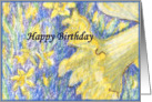 happy birthday paper greeting card flower card