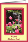 mother's day paper card tulips card