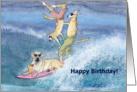 paper greeting card, birthday card, dog, card