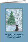 Christmas card, Cousin, dog, Border Collie card
