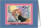 paper card, dog, Corgi, halloween, card