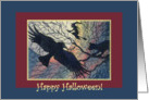 paper card, cat, witch, halloween, card