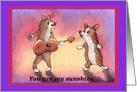 corgi, dog, you are my sunshine, valentine, card