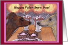 happy valentine's day, whippet, dog, card