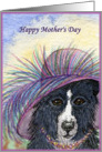 mother's day card dog hat card