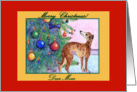 christmas card, paper card, whippet, mom, card