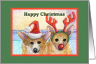 business or corporate christmas cards, paper card, dog, card