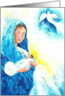 Holy Child Originl Art Christmas Card